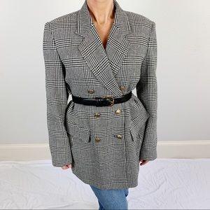Vintage Houndstooth Wool Blazer C3